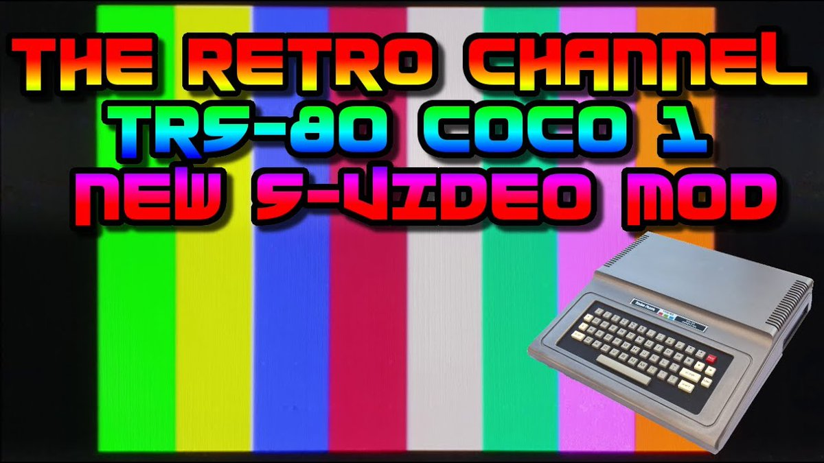 Finally, a better S-Video mod for the #CoCo And component (YUV) video is coming soon