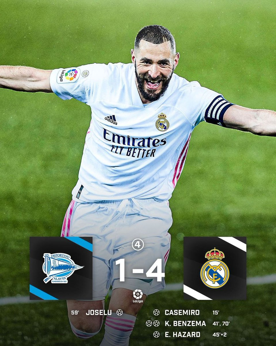 Real Madrid ease past Alaves thanks to a brilliant Benzema brace 👑