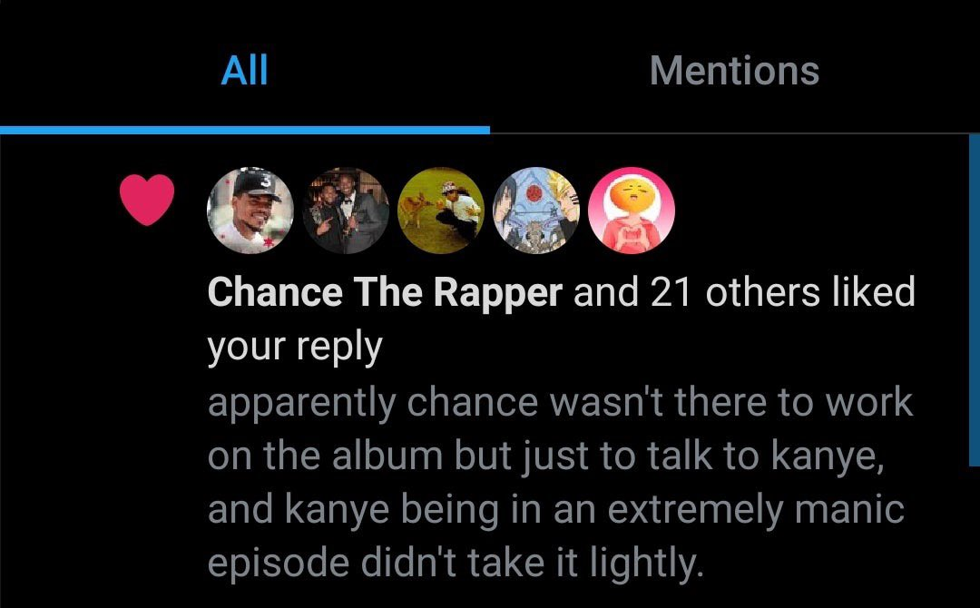 """RT @tillyksg: """"Confirmed"""" backstory of the Kanye yelling at Chance clip.   Chance is a good friend https://t.co/Ly8dbFihwe"""