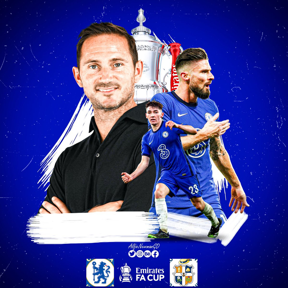 Looking forward to tomorrow's @EmiratesFACup game against @LutonTown. #CHELUT 📸:- @AlfieNewmanGD