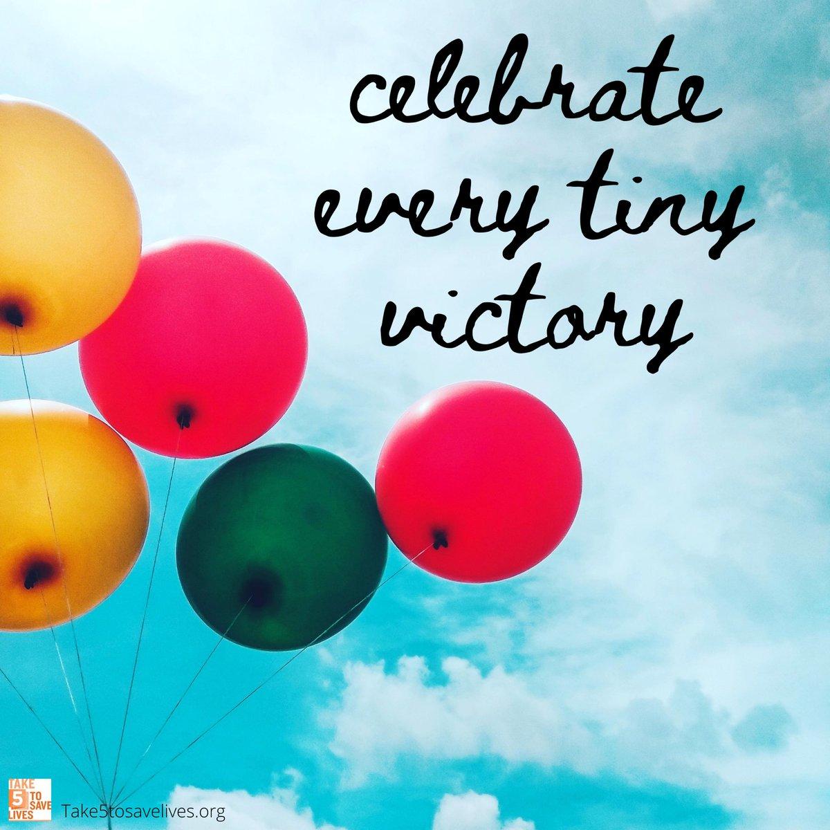 Celebrate how far you've come today.  #celebrateyourself #take5tosavelives #celebrate #celebratelife #celebration #bepositive #celebratelove #gratitude #memories #friends #family #job #accomplishments #marriage #unforgettable #bestoftheday #blessed #animals #positiveoutlook