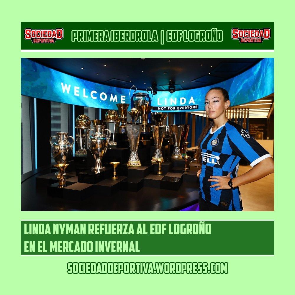 EDF LOGROÑO | El @edflogronofem anunció un refuerzo invernal con la llegada de Linda Nyman. #PrimeraIberdrola  Sigue el mercado en  +EDF Logroño en  Sigue la última hora en