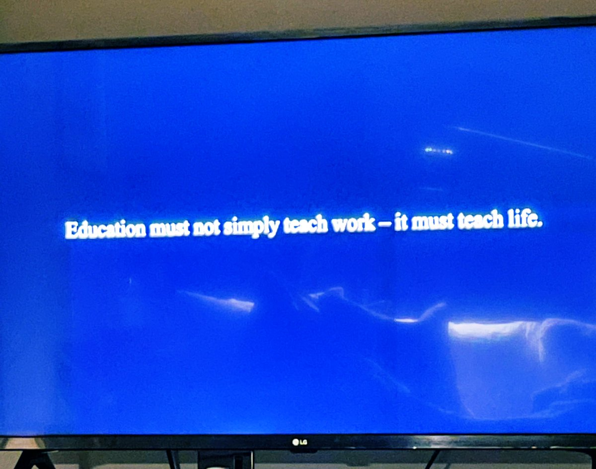 "Little snippets like this in #homecoming is why I love it so much ❤️""Education must not simply teach work-it must teach life."" W. E. B. Du Bois ❤️ This could not be any more true especially right now. ❤️"