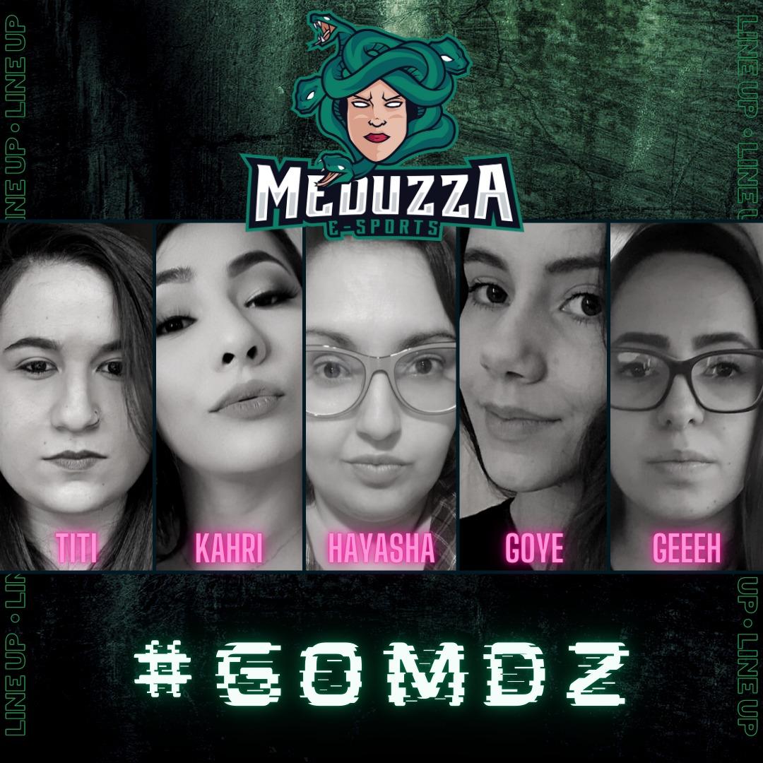A Meduzza e-Sports é uma organização focada 100% no cenário feminino.   Apresentamos nossa line up de CS:GO.  @hay_asha @gececatto @karinahiromi @lenagoye @mattoss_  #gomdz #csgo #csfeminino #csgofeminino #playlikeagirl #respeitaasmina #girlpower #girlgamer