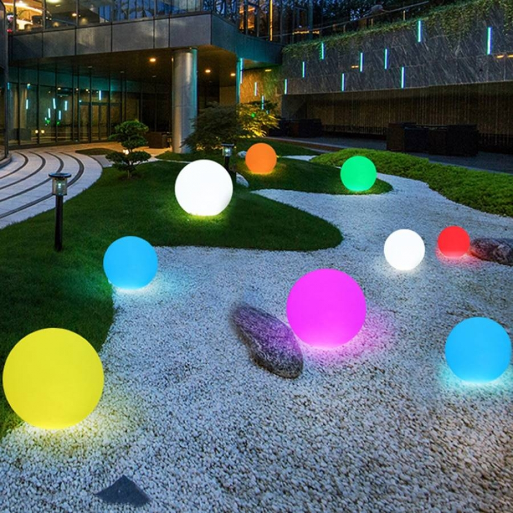 Colorful Ball Shaped Lawn Lamp with Remote Control #homeinterior #homecoming
