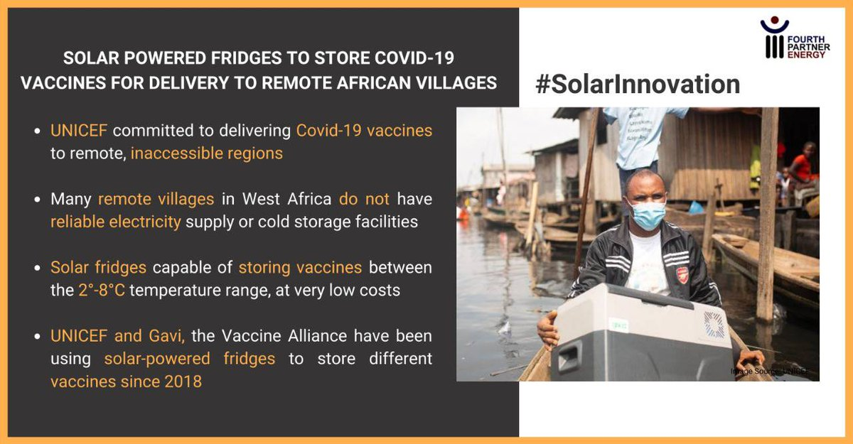 #SOCIALIMPACT: An entire society can get access to the corona vaccine, owing to solar #Innovation —  technology that truly matters!   #colstorage #solarpower #innovation #technology #electricity #connection #invention#storage #solarenergy #batteries #logistics #coldstorage