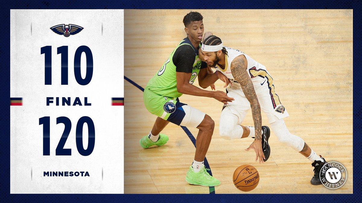 Final  #Pelicans | @HancockWhitney https://t.co/WdDmVOTAkO