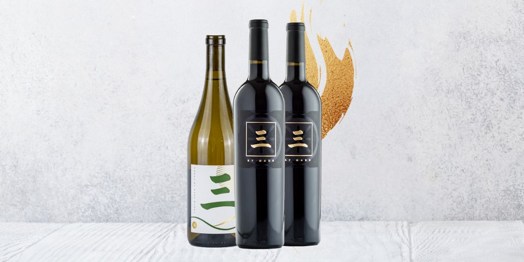 Our 3-Pack includes 2️⃣ bottles of 2018 Three by Wade Cabernet & 1️⃣ bottle of 2019 Three by Wade Chenin Blanc ➕ ground shipping. Shop:   Contact us via email to upgrade or expedite shipping!