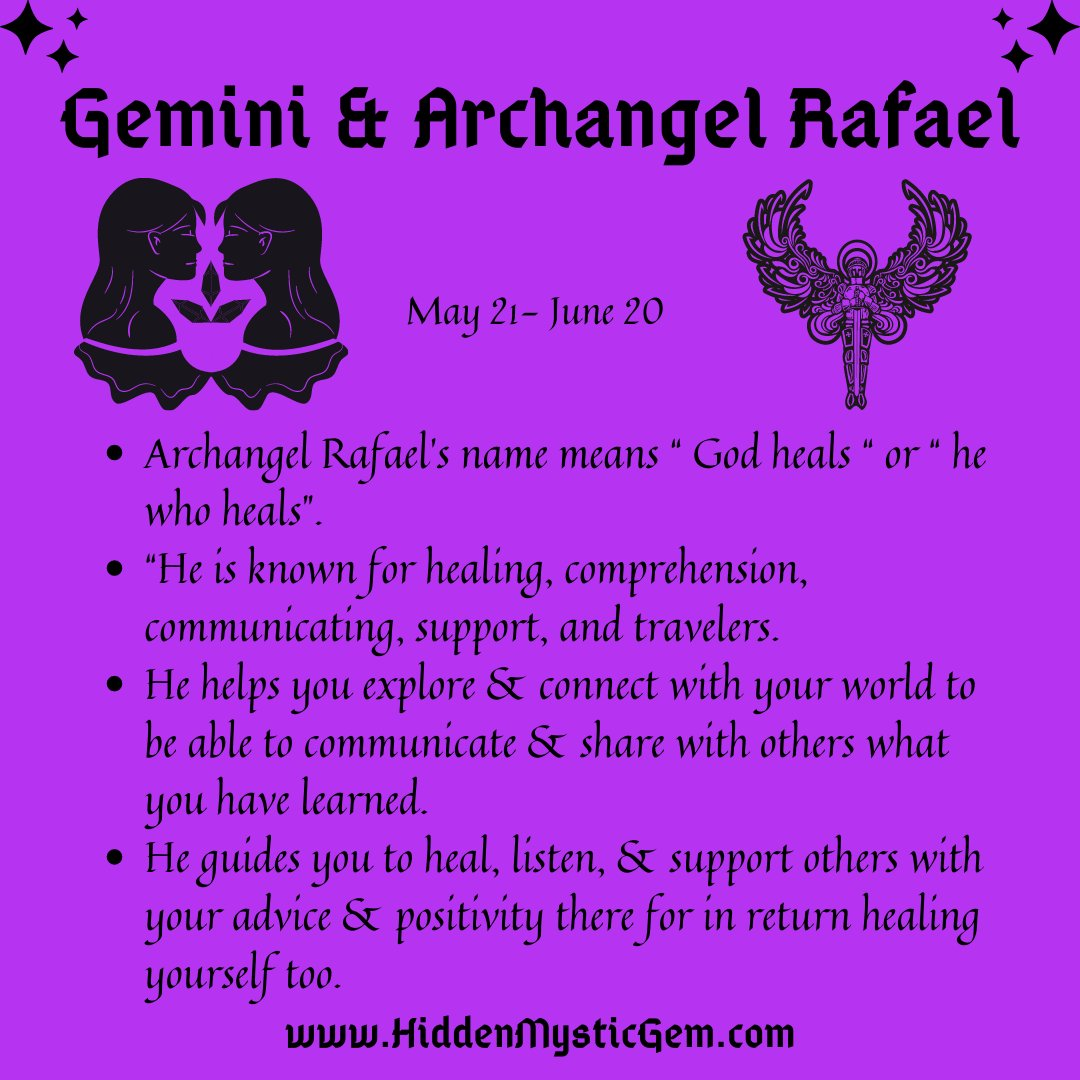 ♊️ Gemini & Archangel Rafael  ♊️ Happy Saturday 💜 #horoscope #horoscope2021 #zodiac #motivational  #goodvibes #spirituality #witch #witches #witchesoftwitter #spirit #FunFacts #readers #Reading #readingcommunity #gemini #Angels #Angel #SaturdayThoughts #SaturdaySocial #saturday
