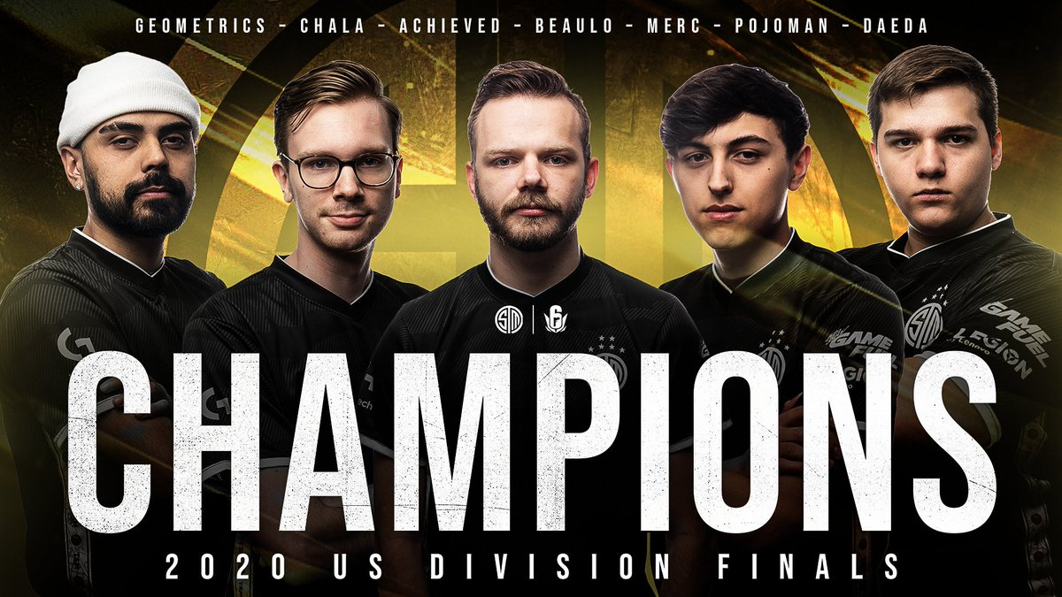 Replying to @TSM: BACK2BACK TROPHIES BABY.   We are your R6 NA League Champions 🏆