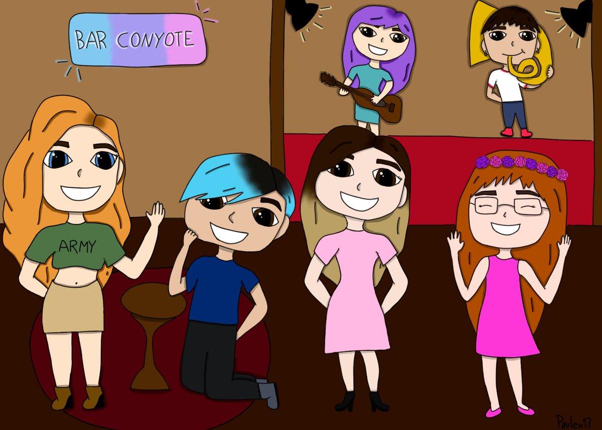 Dibujito del bar conyote! @davnie6 @TaeSchnee @IamCristinini @ElvisaYM @ElyShuri @nosoykoko #EGOLAND #EgolandFanart