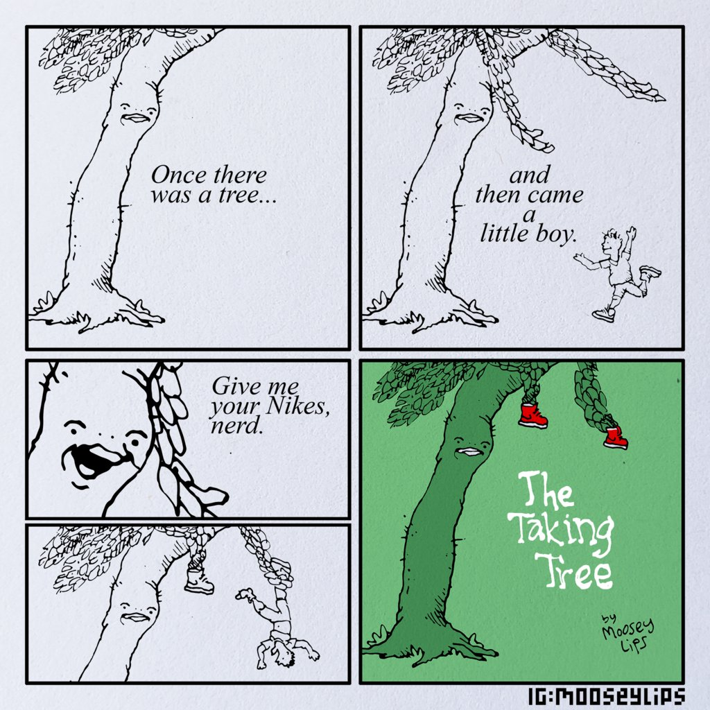The Taking Tree via /r/funny  #funny #lol #haha #humor #lmao #lmfao #hilarious #laugh #laughing #fun #wacky #crazy #silly #witty #joke #jokes #joking #epic #funnypictures