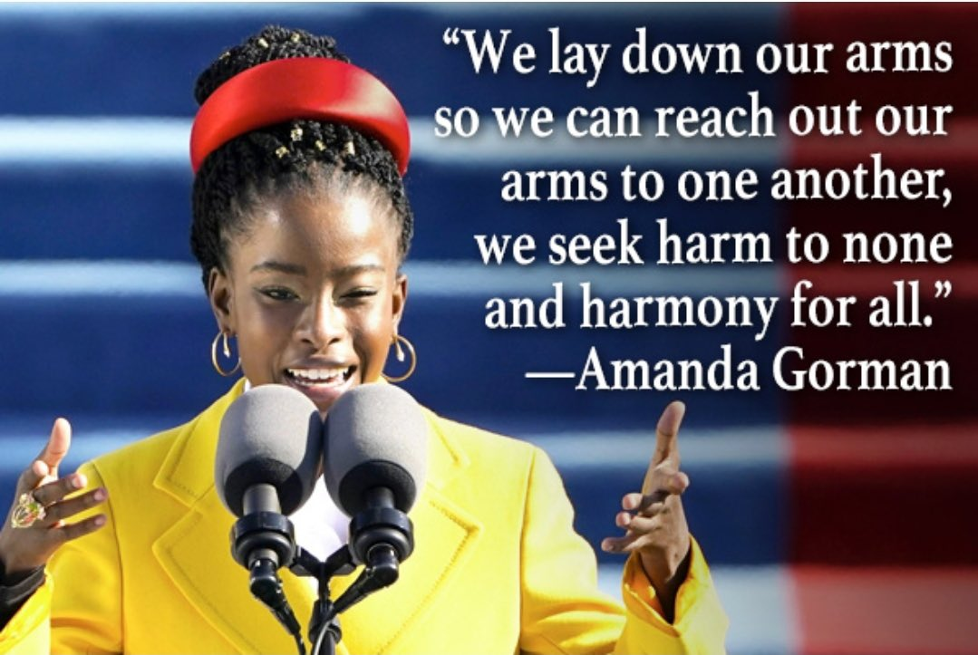 Amanda Gorman is a poet and an activist. She used her words to inspire hope and encourage unity between the American people at the Inauguration of our 46th President. Check it out here:  #qspeakslife #motivationalspeaker #motivator #speakercrushsaturday