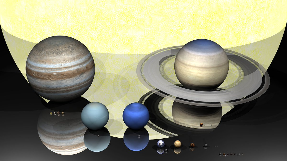 Our lovely Solar System to scale - Including major moons, Ceres, Vesta, Trans-Neptunian and Kuiper Belt objects!  (Credit: Kevin Gill)