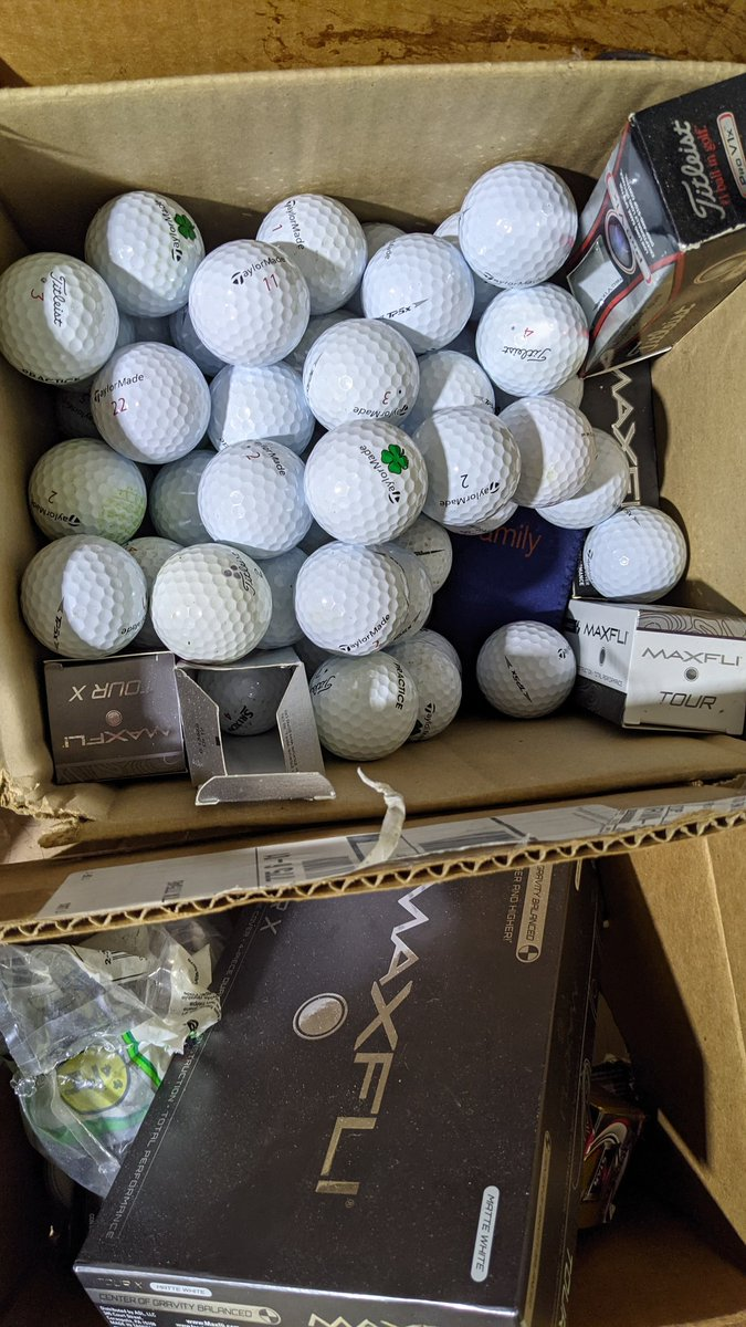 And this is about an 1/8 of them I buy balls and play with them once. Can't use a used ball:(#IOwnARidiculousAmountOf