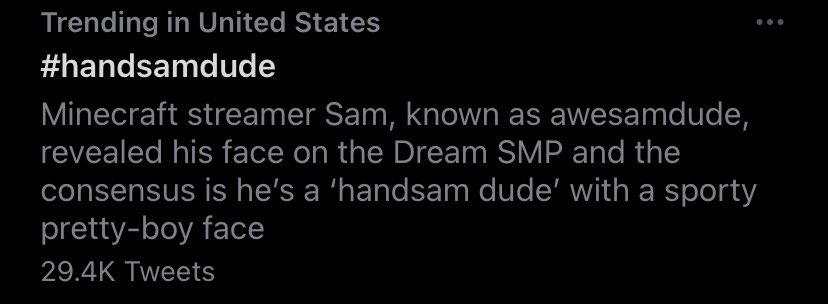 #handsamdude THE DESCRIPTION IM LOSING MY MIND