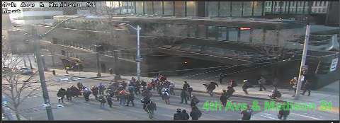 UPDATE: March on Madison St moving WB from 4th Ave blocking all lanes. Use caution and seek alternate routes. https://t.co/jPstdyNCK2