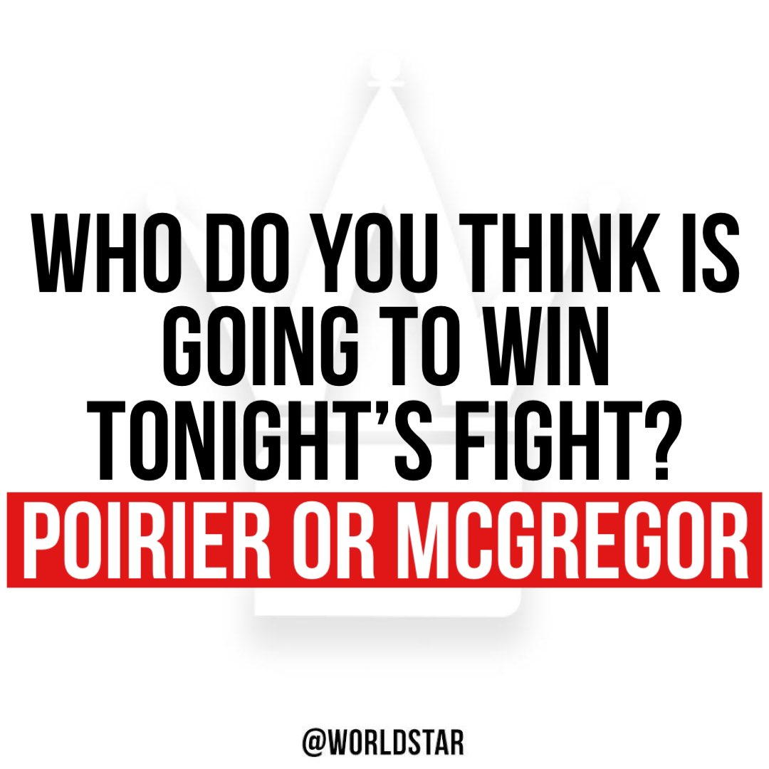 Comment below! 👇🤔 #Poirier #McGregor