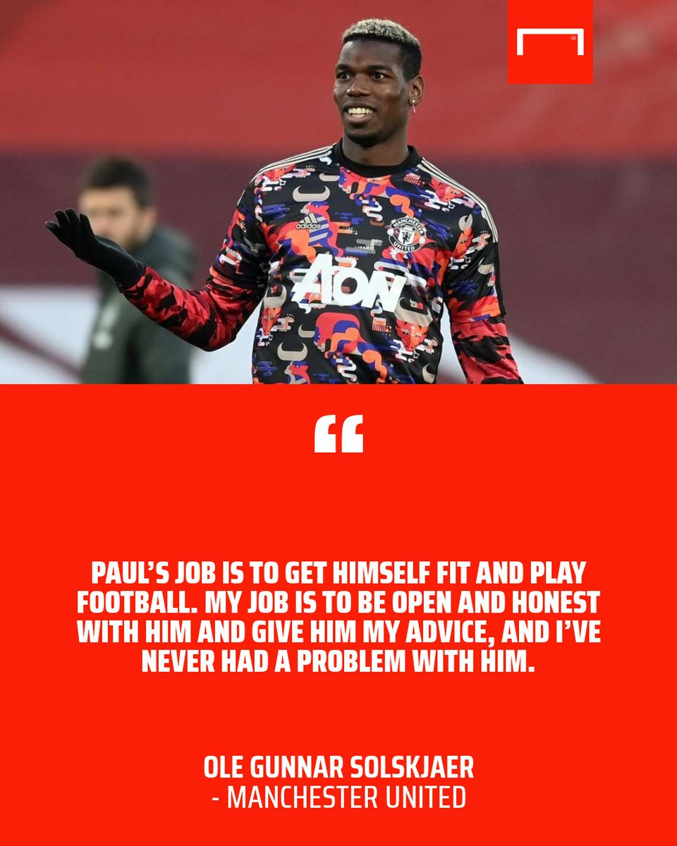 Its all good between me and Paul, says Ole. 🤝