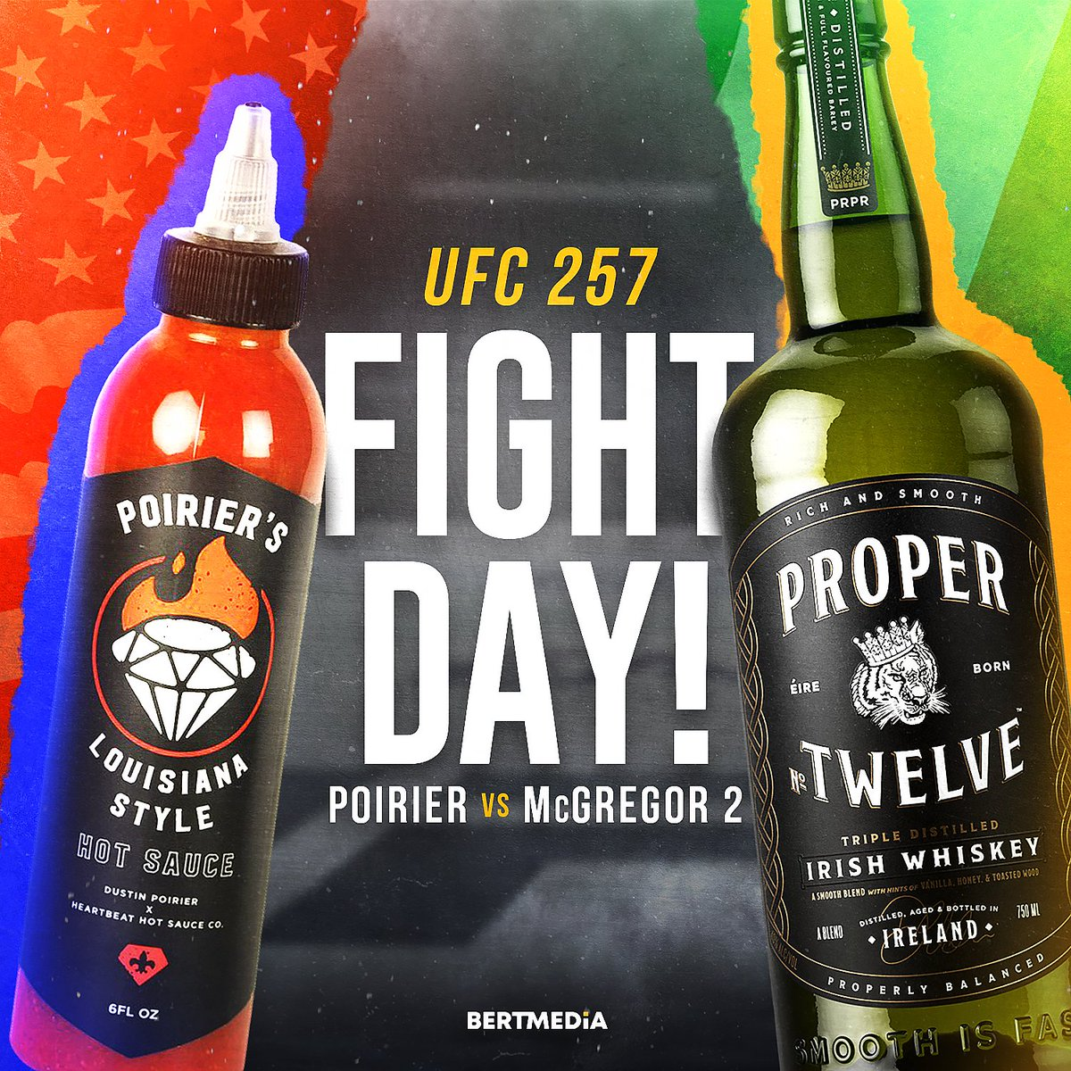 FIGHT DAY IS HERE!!! #UFC257 🇺🇸🇮🇪 @TheNotoriousMMA @DustinPoirier