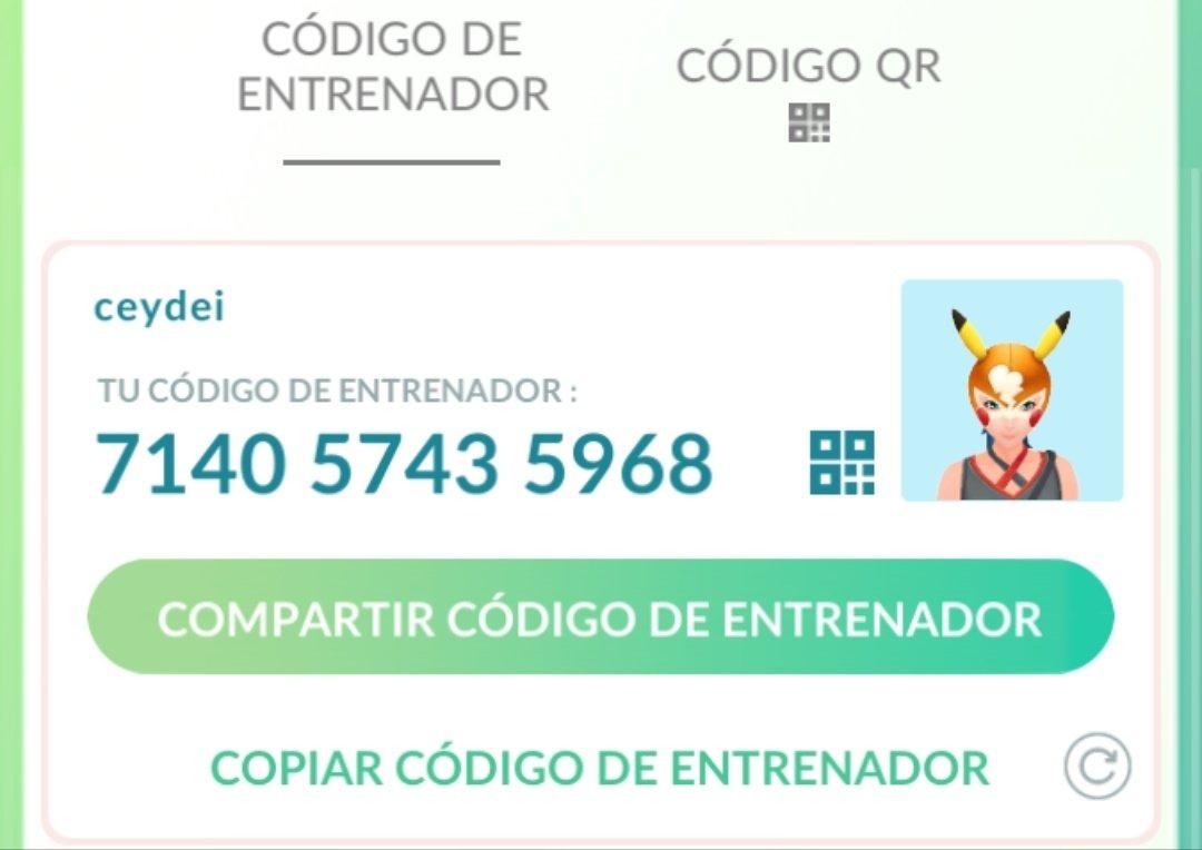 #PokemonGOTourContest Ese es mi código