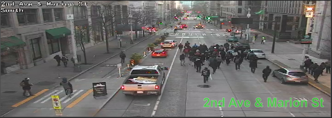 UPDATE: March on 2nd Ave at Marion St blocking all lanes moving SB. Use caution and seek alternate routes. https://t.co/o7xooVDBWY