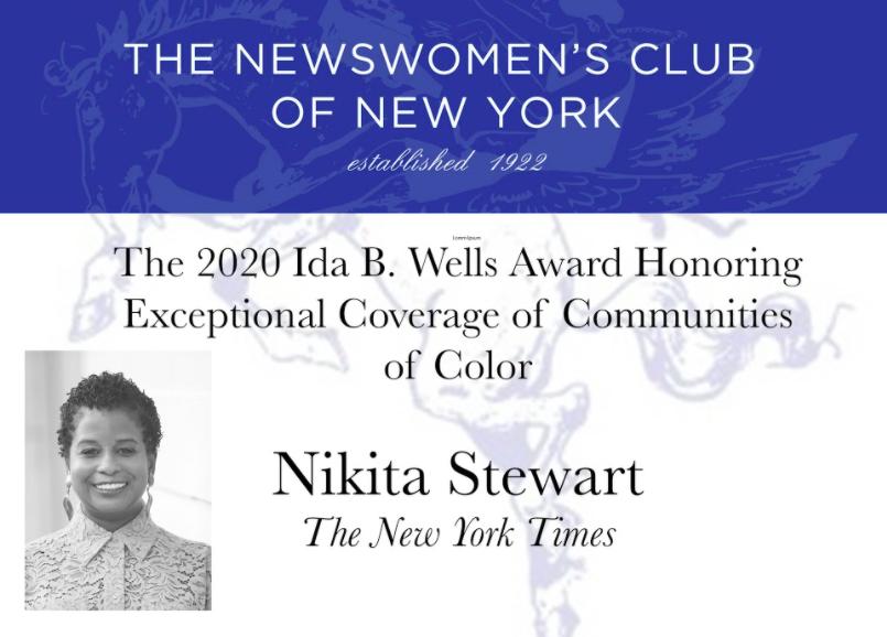 Also to @kitastew for the Ida B. Wells Award, @alexis_ok for Journalist of the Year & @JoyAnnReid for Lifetime Achievement Award!
