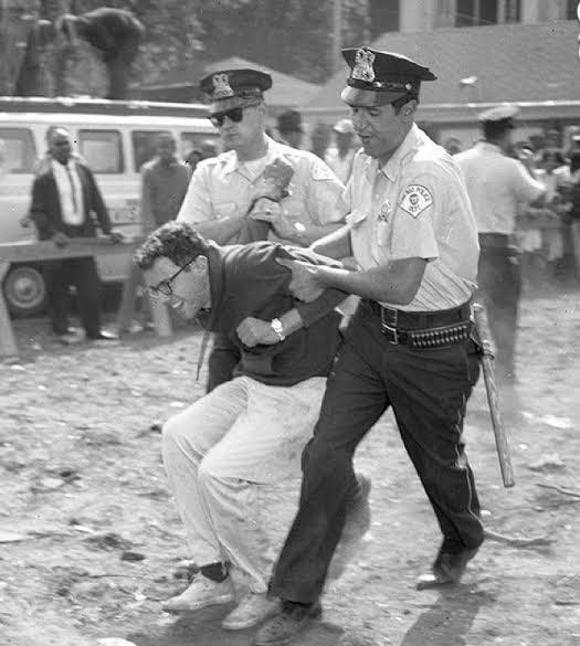 My favorite picture of Bernie Sanders, arrested while protesting for civil rights and racial equality back in 1963. 👏👏👏   #BernieSanders #CivilRights