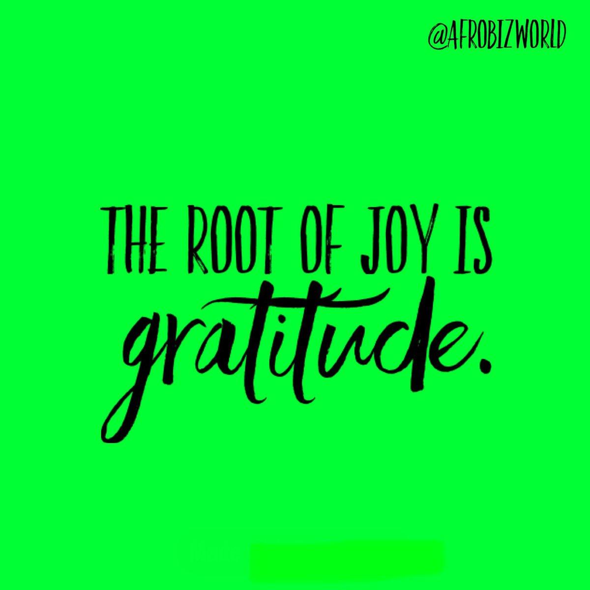 The root of joy is gratitude. And how sweet it is! 🍀 . . #Joy #Gratitude #PracticeDaily #AfroBizWorld #AfroBiz #Afro #AfroWorld #Happiness #Roots #Sweet #BlackOwned #BlackOwnedBusiness