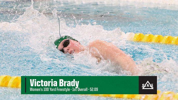 RT @DeltaStateSWD: Victoria Brady won the Women's 100 Yard Freestyle in 52.09!! #WhereChampionsPlay🏊♀️ https://t.co/LwHZVCHY02