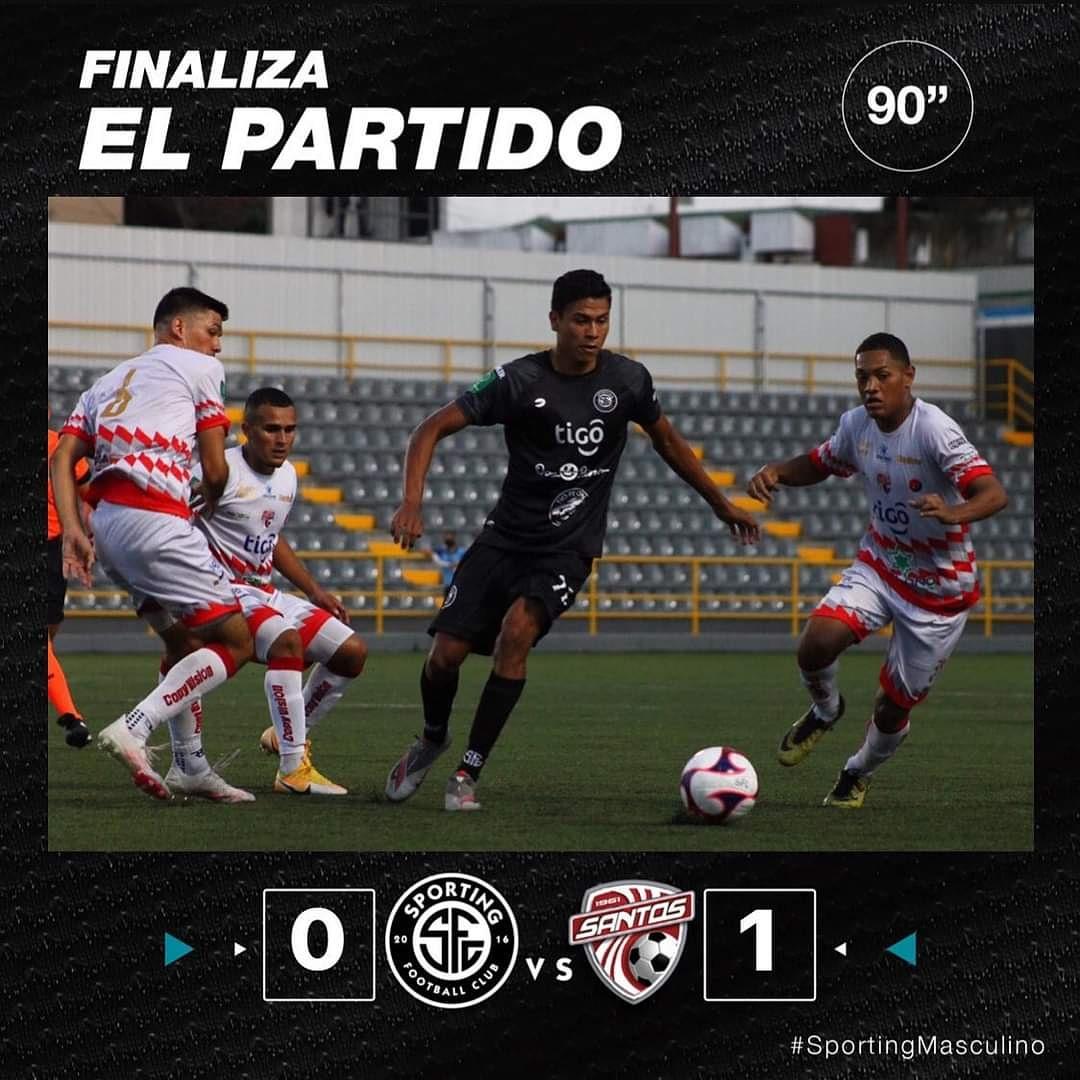 Sporting FC ⚫⚪ cae en casa ante el Santos de Guápiles 🔴⚪  📸: Sporting FC.   #somosfútbol