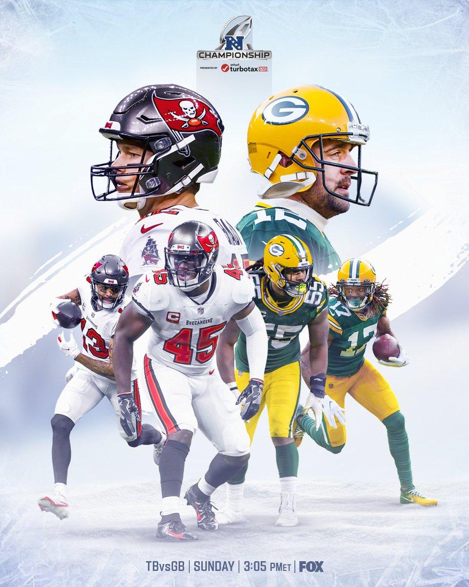 Can't WAIT for Championship Sunday 🍿  #GoBucs | #GoPackGo  📺: #TBvsGB -- TOMORROW 3:05pm ET on FOX 📱: NFL app // Yahoo Sports app