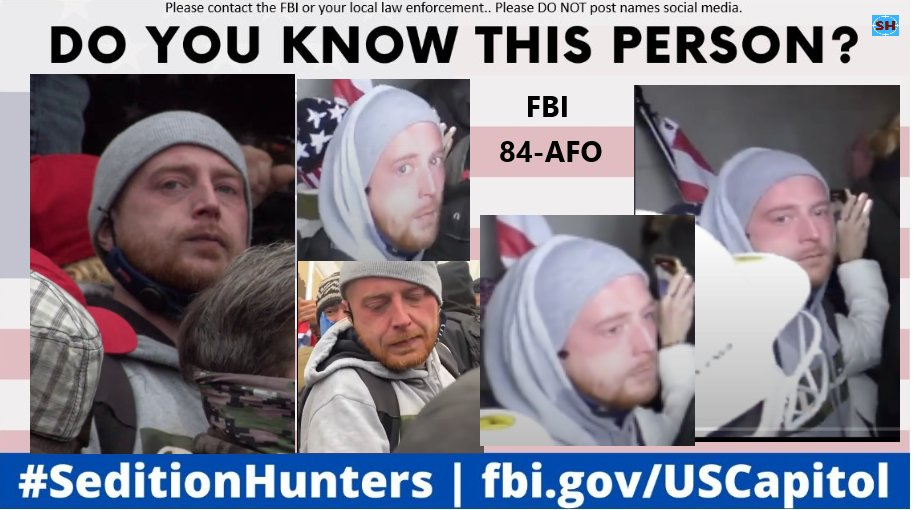 Please share across all platforms. Do you Know this person?? Please contact the FBI with ID 84-AFO if you do! #SeditionHunters #DCRIOTS #CapitolRiot  #Doyouknow Please DO NOT post names on social media #chumpion