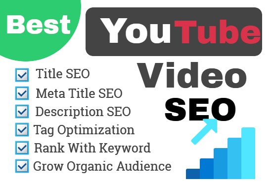You will get YouTube video SEO to rank 1st page on youtube please check out:   #youtube #youtuber #youtubemonetization  #youtubechannel #youtubemusic #youtubers #video  #videoseo #videogames #upwork #upworkfreelancer #Artist #monetization