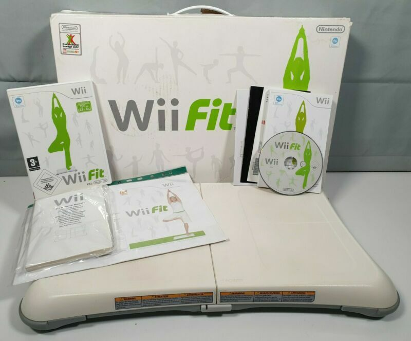 Official #Nintendo #Wii Fit Balance Board - White - Boxed- With #Wii Fit Game #retrogaming #ebay 🔥🔗