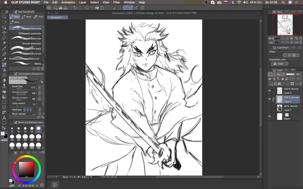 let it burn - sketchh  #art #anime #kny #kimetsunoyaiba #DemonSlayer