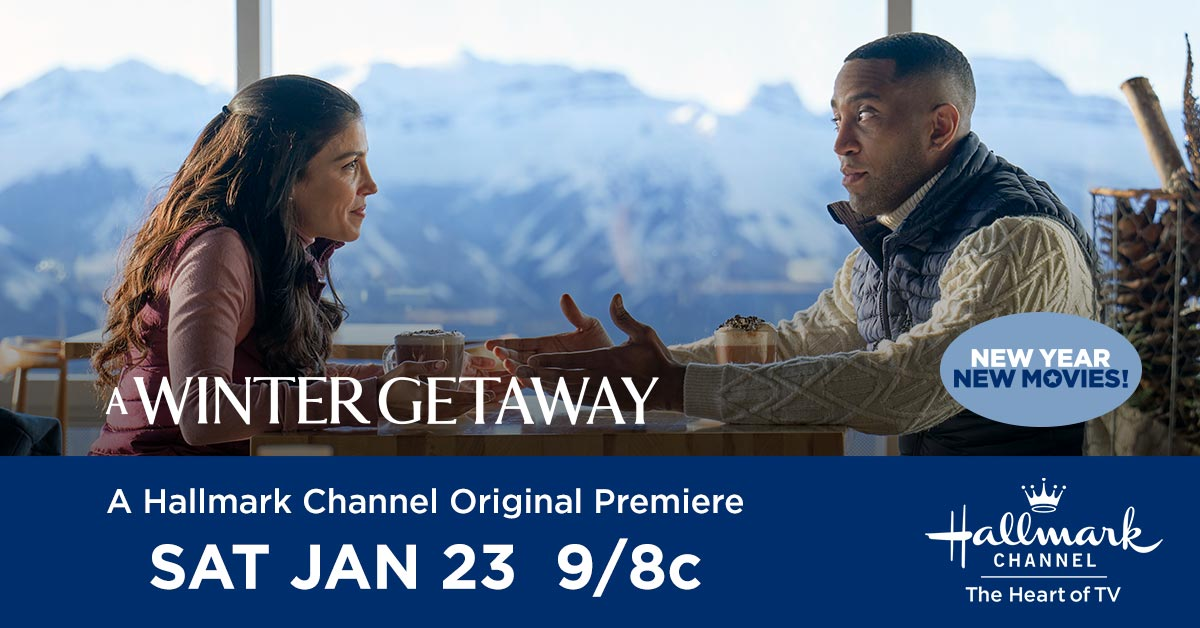 Hello East Coast! It's Time For The Original Premiere of #AWinterGetaway Starring @MsNazContractor And @BrooksDarnell Tune in NOW on @hallmarkchannel in 🇺🇸 And @w_network in 🇨🇦 Enjoy #Hallmarkies! ⛷🌟❄💙 #NewYearNewMovies #Winterfest