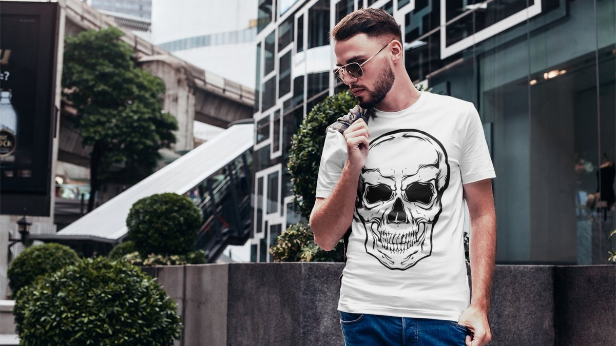 #skull design for #tshirts is here  #clothing #etsy #sales