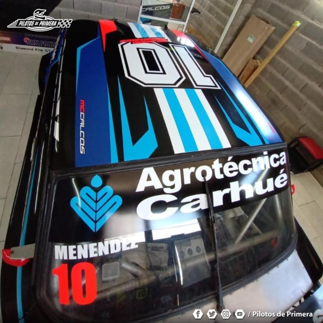 #SupercarPampeano 💥 El Carhuense Orlando Menéndez ya espera la 1° fecha del año en @Club_Crisol - 👏 Le rendirá Homenaje a Diego Maradona en su decoración - #Supercar #Ford #Maradona