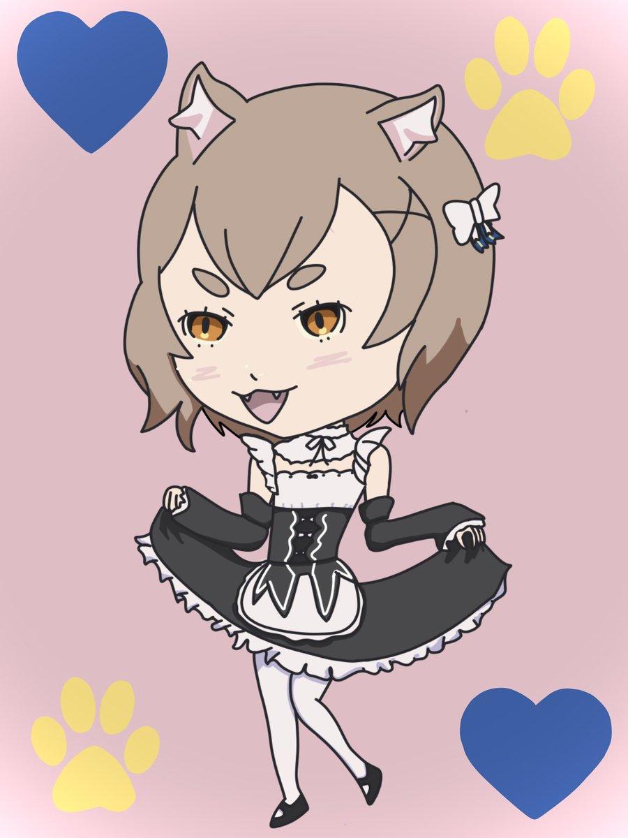 Stolen meoutfit #rezero #anime #fanart #felix #maid