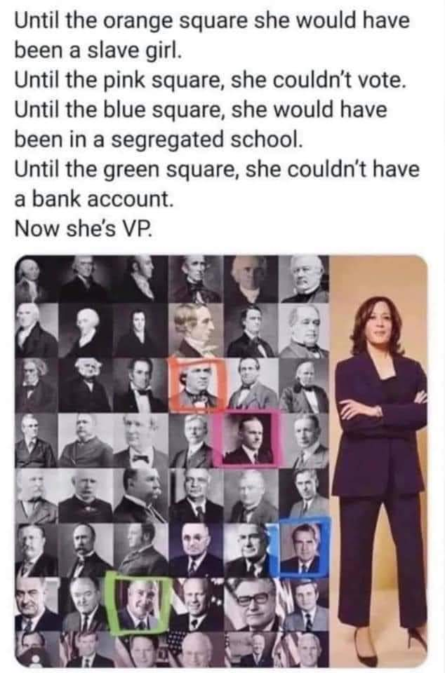 For those who need a better illustration of why Kamala Harris as Vice President is phenomenal and historical...   #BlackExcellence #Progress #CivilRights