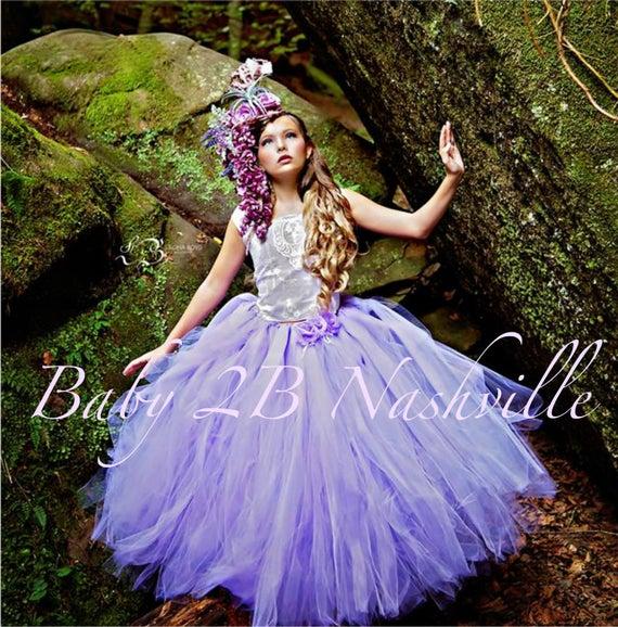 Lavender Lace Flower Girl Dress, Purple Dress,  #weddings #clothing #dresses #flowergirldress #girlsdress