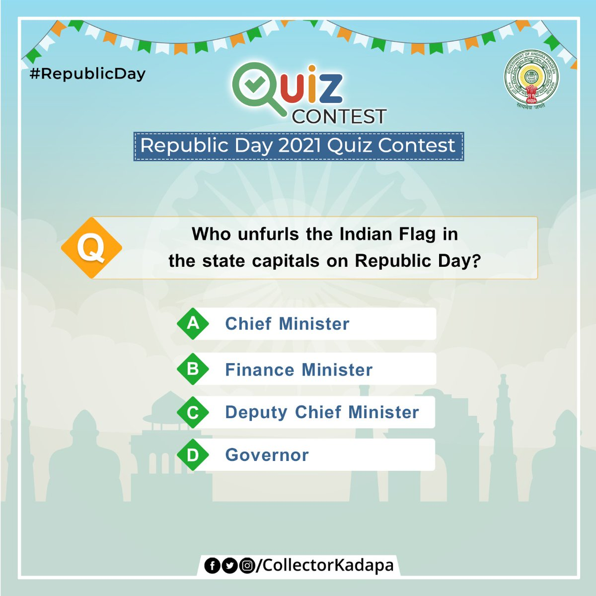 Here's the fifth question of our #RepublicDay #quiz #Contest. Post your answer in the comment section and win exciting prizes. #ContestAlert #RepublicDay2021