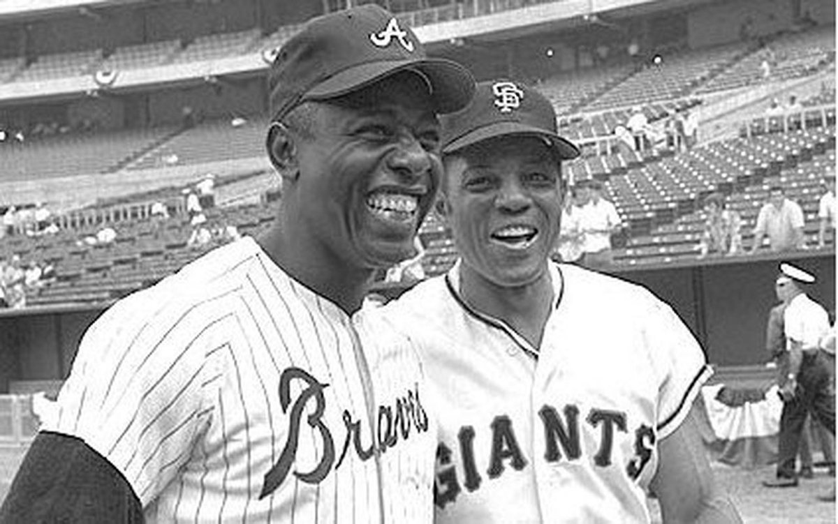 """The """"Hammer"""" Henry (Hank) Louis Aaron broke multiple records throughout his career and remains #THEGOAT  #Braves44 #MVP4ever #755homerunscareer  Hank Aaron was and forever will #BeaKing and an enduring icon of the #CivilRights movement.   #RIPHankAaron ❤️"""