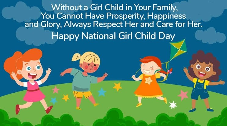 The Best Thing That You Can Do for a Girl Child Is to Give Her a Safe Environment to Grow, Study and Do Things She Like…. Happy National Girl Child Day. #girlchild #education #india #girlchildeducation #girl #girlpower #children #girls  #girlchildempowerment  #girleducation
