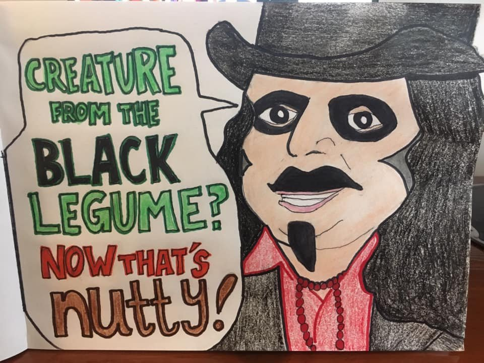 #Svengoolie  I did one for @drawlloween last October for this prompt, but I slept through it when it aired last week!