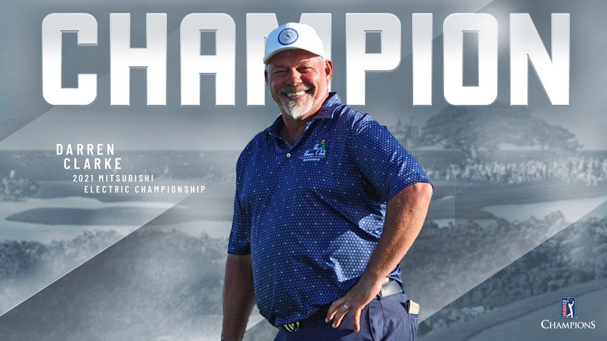 Surging ahead in Hawaii!  @DarrenClarke60 has won the @MEC_golf. 🏆