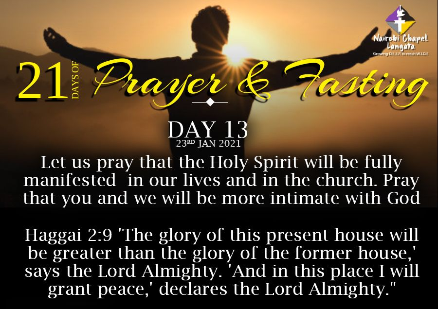 2 Corinthians 10:4 The weapons of our warfare are not the weapons of the world. Instead, they have divine power to demolish strongholds.   Here is our #Day14 prayer guide. #PrayerAndFasting #21DaysOfPrayerAndFasting #HumansOfNCLA #NairobiChapelLangata