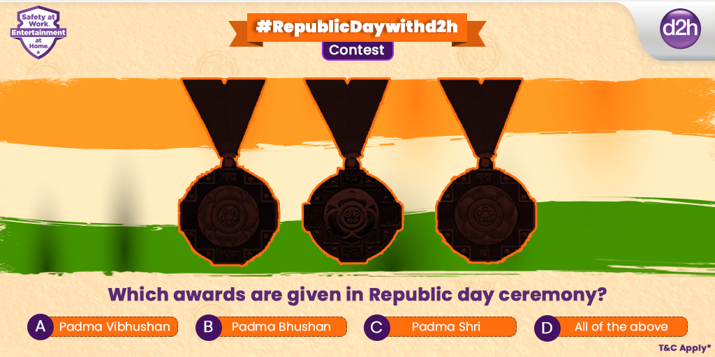 Answer this answer correctly and have 60% chances of winning at #RepublicDaywithd2h. T&C Apply*  . #ContestAlert #Contest #Win #Giveaway #ContestAlertIndia #ContestGiveaway #d2h #AlagHiView #RepublicDayContest  @Contest_in