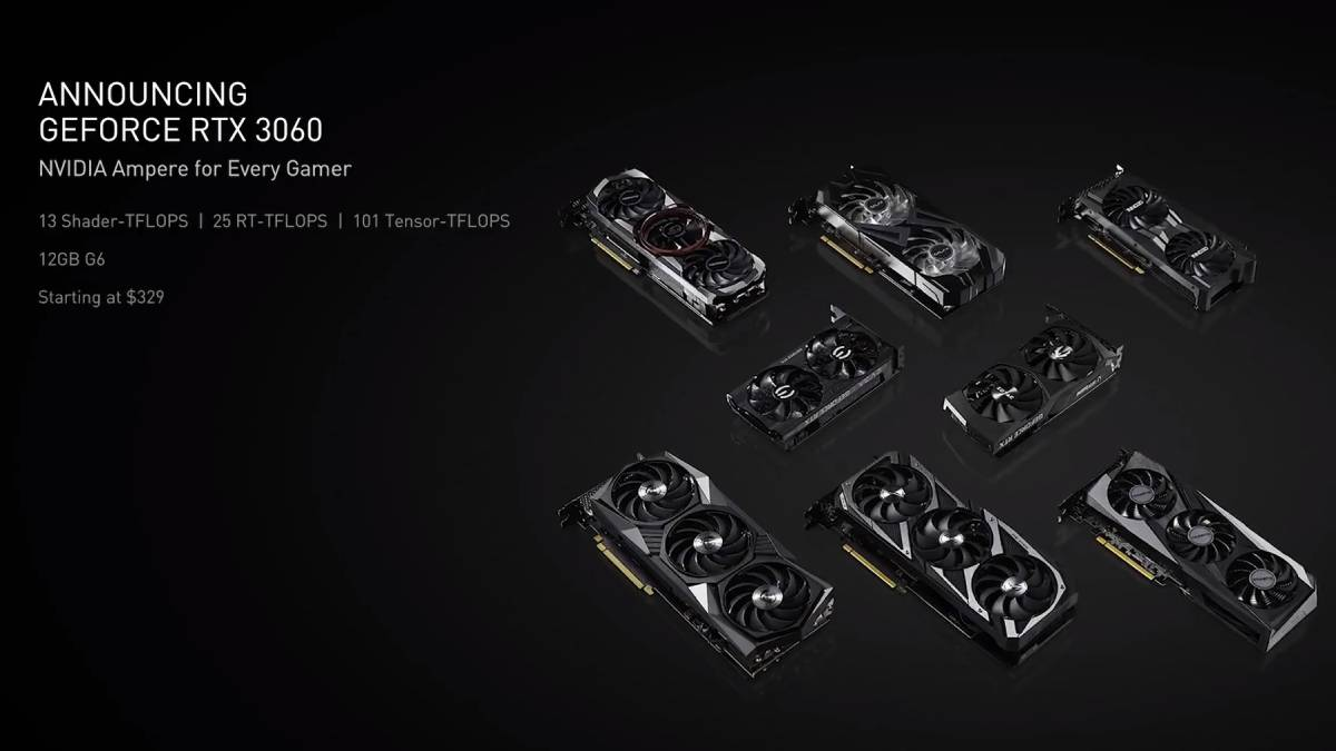 Nvidia GeForce RTX 3060 Desktop GPU Launched at CES 2021, Officially Priced at Rs. 29,500 - Gadget Informer @ https://t.co/Y9YbAO2zoD https://t.co/XF1fSxu6Gx